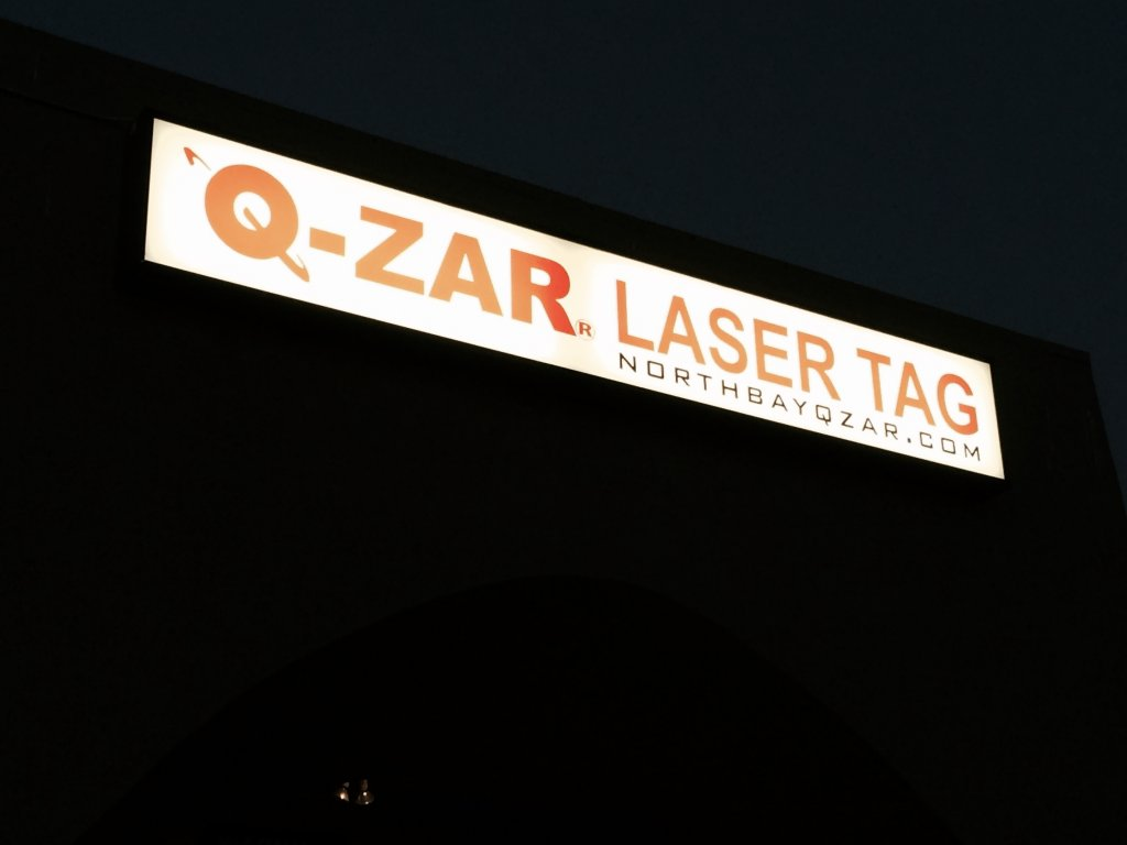 New Location Signs For Q Zar Laser Tag Wine Country